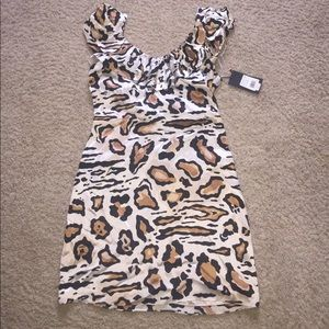 New animal print silk dress